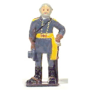 American Civil War General Robert E Lee Metal Hand Painted Collectible Figure Toy Soldier W Britain Type