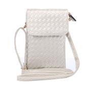 Newnet Women Bag,Stripe Woven Material Following General Risers Diagonal Package Under 18cm Cross Body Purse Mobile Phone Bag