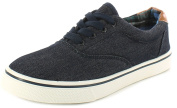 New Older Boys/Childrens Navy/White Lace Ups Fashion Canvas Shoes. - Navy/White - UK SIZES 13-5