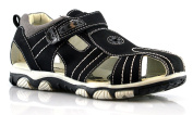 Boys Closed Toe Touch Fastening Cut Out Comfort Velcro Sandals Shoes Size 13-5