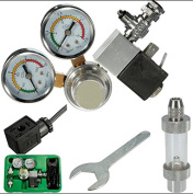 Xumarket(Tm) Co2 Equipment Regulator Solenoid Two Gauge Bubble Counter Dici Planted Aquarium