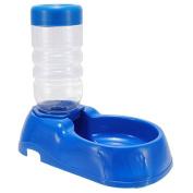 Xumarket(Tm) Pet Automatic Bottle Water Drinking Dispenser Feeder Puppy Dog Cat Plastic Bowl Dual Dish Fountain Utensils 500Ml