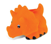Puzzled Orange Triceratops Rubber Squirter Bath Buddy Bath Toy - Dinosaurs \ Prehistoric Collection - 7.6cm - Item #2779