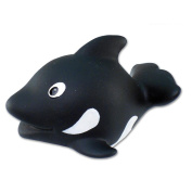 Puzzled Killer Whale Bath Buddy Squirter Black And White 7.6cm