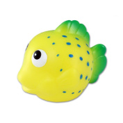 Puzzled Yellow Reef Fish Bath Buddy Squirter Yellow 7.6cm