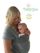 •HALLOWEEN SALE!• Premium Baby Sling Carrier | Baby Wrap | Newborns, Infants, Toddlers | Create a Natural Bond | Breastfeeding Cover | Breathable Soft Cotton | Grey | Ideal Gift