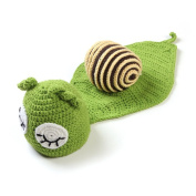 1set Snail Handmade Knitted Newborn New Born Infant Knitting Wamer Clothing Clothes Baby Set