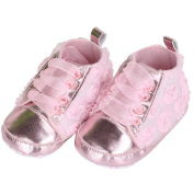 Toddler Baby Girl Non-slip Floral Soft Sole Lacing Crib Shoes Prewalker Boots