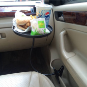 Teckey Creative Car Convenient Tray Car Auto Mount Holder Stand Drink Cup Coffee Clip Table Stand Food Water Tray