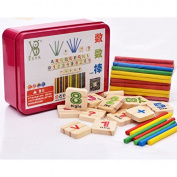 Asbent(TM) 1SET Digital Intelligence Great Toys Montessori Math Wooden Material Colour Calculation Early Education Enlightenment Toy WJ303