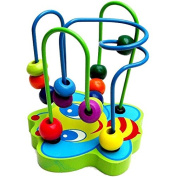 Asbent(TM) NEW Baby Toys Colourful Bead Maze Child Educational Toy Wooden Blocks Building Blocks Toy gift 1pc. WJ304