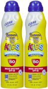 Banana Boat UltraMist Kids Clear SPF 50 Sunscreen, 180ml, 2 pk