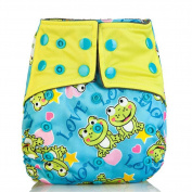 MelBedy 3pcs Pocket Washable Adjustable Cloth Nappy Nappy Cover For Boy and Girl