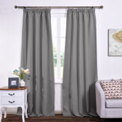Ponydance Halloween Christmas Solid Thermal Insulated Pencil Pleat Interwoven Lining Blackout Curtain Draperies for Bay Window, 120cm x 230cm