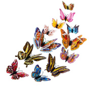Xinantime 12pcs 3D Butterfly Decal Art Wall Stickers