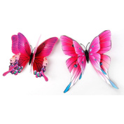 Wall Sticker, Xinantime 12x 3D Butterfly Fridge Magnet Decal Wall Sticker