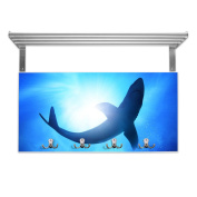 Coat Rack with Hat Rack and Shark Design