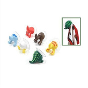 Xumarket(TM) Cartoon Lovely Animal Tail Rubber Sucker Hook Key Towel Hanger Holder Hooks