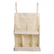 LEADSTAR Baby Nursery Organiser Waterproof Nappy Organiser Baby Hanging Pouch Bag for Baby Bed