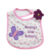 Baby Bibs Embroidered Waterproof Bibs Cartoon Velcro 1 piece
