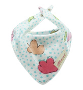 1 piece baby bibs double cotton cloth with two Snaps Use both sides