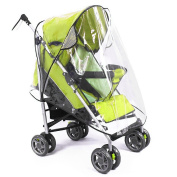 MTURE Pushchair Stroller Rain Cover Buggy Rain Cover for Baby Outdoor Travel, fits hundreds of models -Transparent