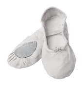 """Canvas Ballet Shoes """"Lara"""" with Split Soles - Dance, Gynmastics, and Yoga Shoes - Various Colours and Sizes"""