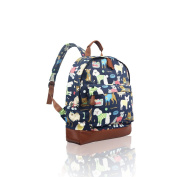 SALE - Children's 'Cath Kidston' Designer Style Canvas Animal Print Backpack - 'JC' Kids Back to School Collection