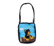 Puzzled Black Bear Shoulder Bag, 23cm