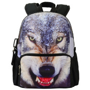 Bistar Galaxy Canvas Backpack Kids Backpacks Cute Wolf Animal Backpack for Girls BBP109S
