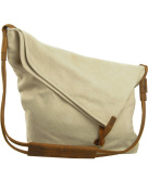 Youlee Canvas Shoulder Bags Messenger Bags Travel Bags Shopping Bags Beige