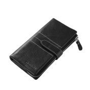 XCSOURCE Men's Leather Long Wallet Handbag Detachable Credit ID Card Holder Pocket Money Coin Purse Black MT351