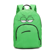 Bluestar Cute Expression Smile Face Canvas Funny Backpack Students Fashion Lightweight Book Bag