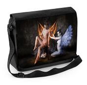 Angel and Devil Female Nudes Laptop Messenger Bag