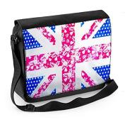 Floral Union Jack Laptop Messenger Bag