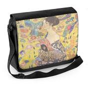 Gustav Klimt Lady with Fan Laptop Messenger Bag