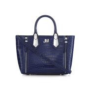 Star By Julien Macdonald Womens Bright Blue Croc-Effect Textured Grab Bag