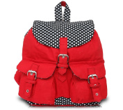 Pick Pocket Red and Black Polka Dot Back Pack