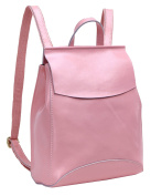 AINISI Womens New Fashion Pink Genuine Leather Backpacks Schoolbag Shoulder Bag