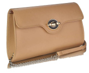 Gorgeous Nude/Cream Twist Lock Flap over Clutch Purse. FOR £19.99 | FREE UK DELIVERY | SAVE 70%