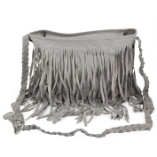 chinkyboo® Womens Ladies Designer Tassel Faux Messenger Cross Body Fringe Bag Shoulder Handbag