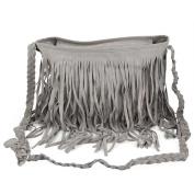chinkyboo® Womens Ladies Designer Tassel Faux Messenger Cross Body Fringe Bag Shoulder Handbag