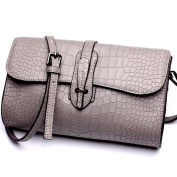 Asiki Genuine Leather Cross Body Shoulder Bag Leather Wristlet Clutch with Removable Handle Strap