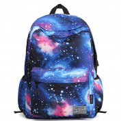 Artone Large Capacity Universe Nylon Casual Daypack with Laptop Compartment Fit 38cm Laptop Blue