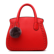 YACUN Ladies Handbags Womens Shoulder Bags Designer New Celebrity Style Tote Large Red
