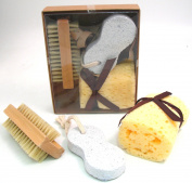 Serenade - Spa Gift Set - Loofah, Nail Brush and Pumice Stone in Gift Box