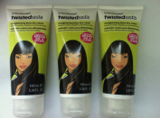 3 x Twisted Sista Straightening Blow Dry Cream 100ml With Argan Oil & Lychee