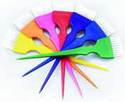 Perfehair Colourful Hair Dye Brush Set, Rainbow Hair Colouring Tint Brush Set-7 Colour
