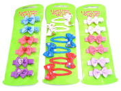 18 Bow Hair Clips Hair Grips Slides Snap on Clips Hair Accessories