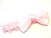 Lapeach Fashions Gorgeous Children Stretchable Kylie Band Hair Band With Matching Wide Double Bow Tie